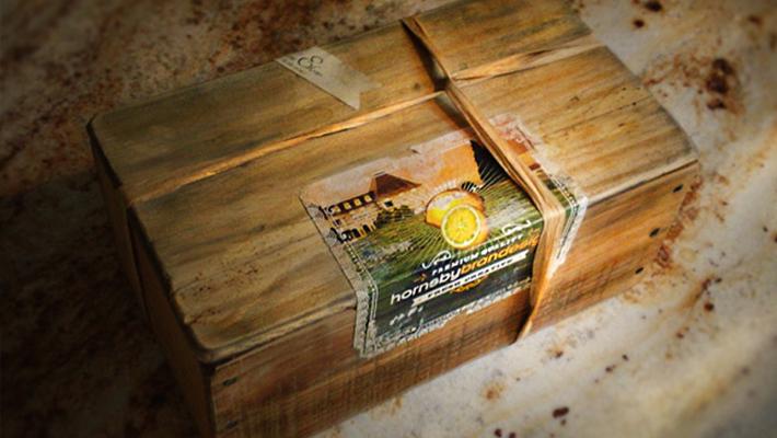 Unique lemon box packaging